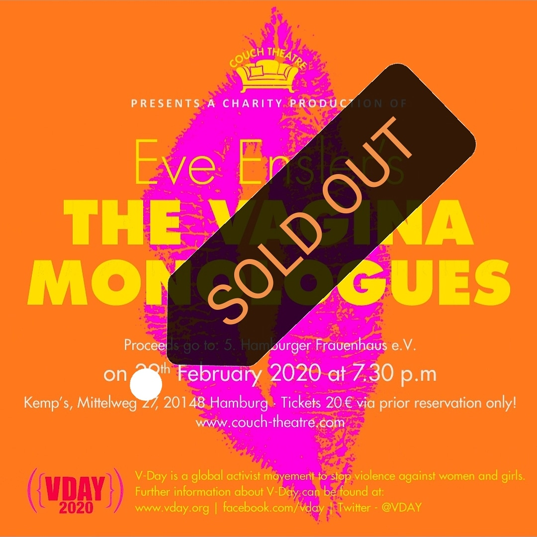 SOLD OUT!! The Vagina Monologues by EveEnsler